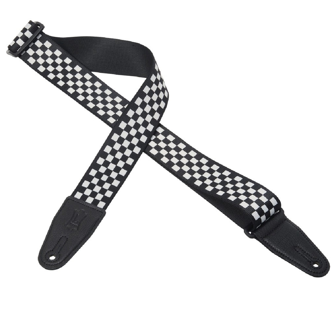 "2"" Levy's Poly Checkered Black White Strap"