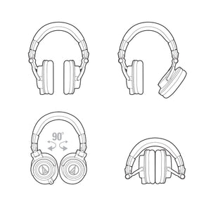 Audio Technica ATH-M50X closed-back headphones