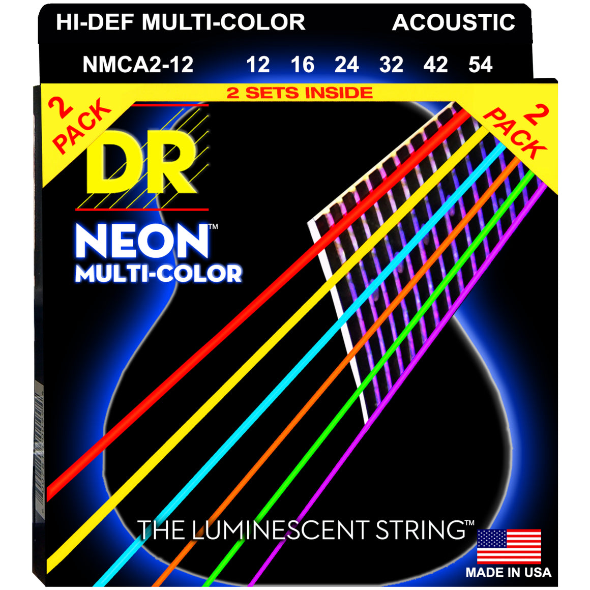 DR Strings NMCA-12 12-54  Acoustic Strings 2-pack
