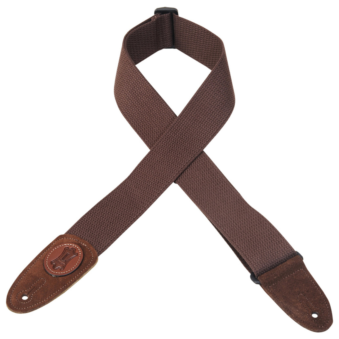 "2"" Levy's Brown Cotton Strap w/ Suede"