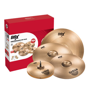 Sabian B8X 3-Pack Performance Cymbal Set with Bonus