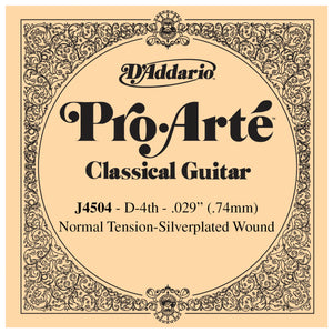 D'Addario Pro Arte 4th Silver Wound Single String .029 J4504