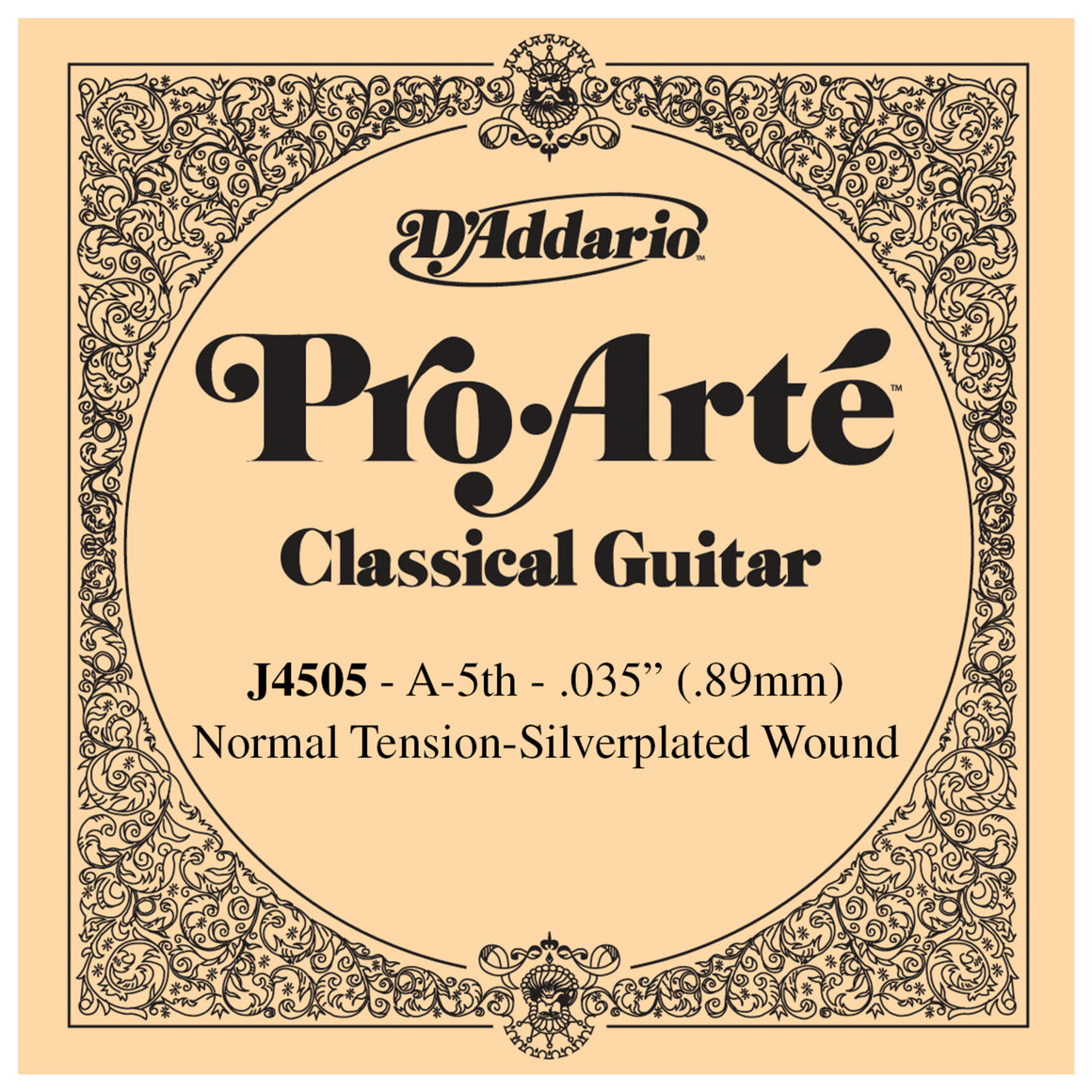 D'Addario Pro Arte 5th Silver Wound Single String .035 J4505