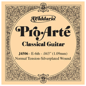 D'Addario Pro Arte 6th Silver Wound Single String .043 J4506