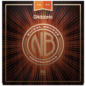 D'Addario NB1047 10-47 Nickel Bronze Light Acoustic Strings
