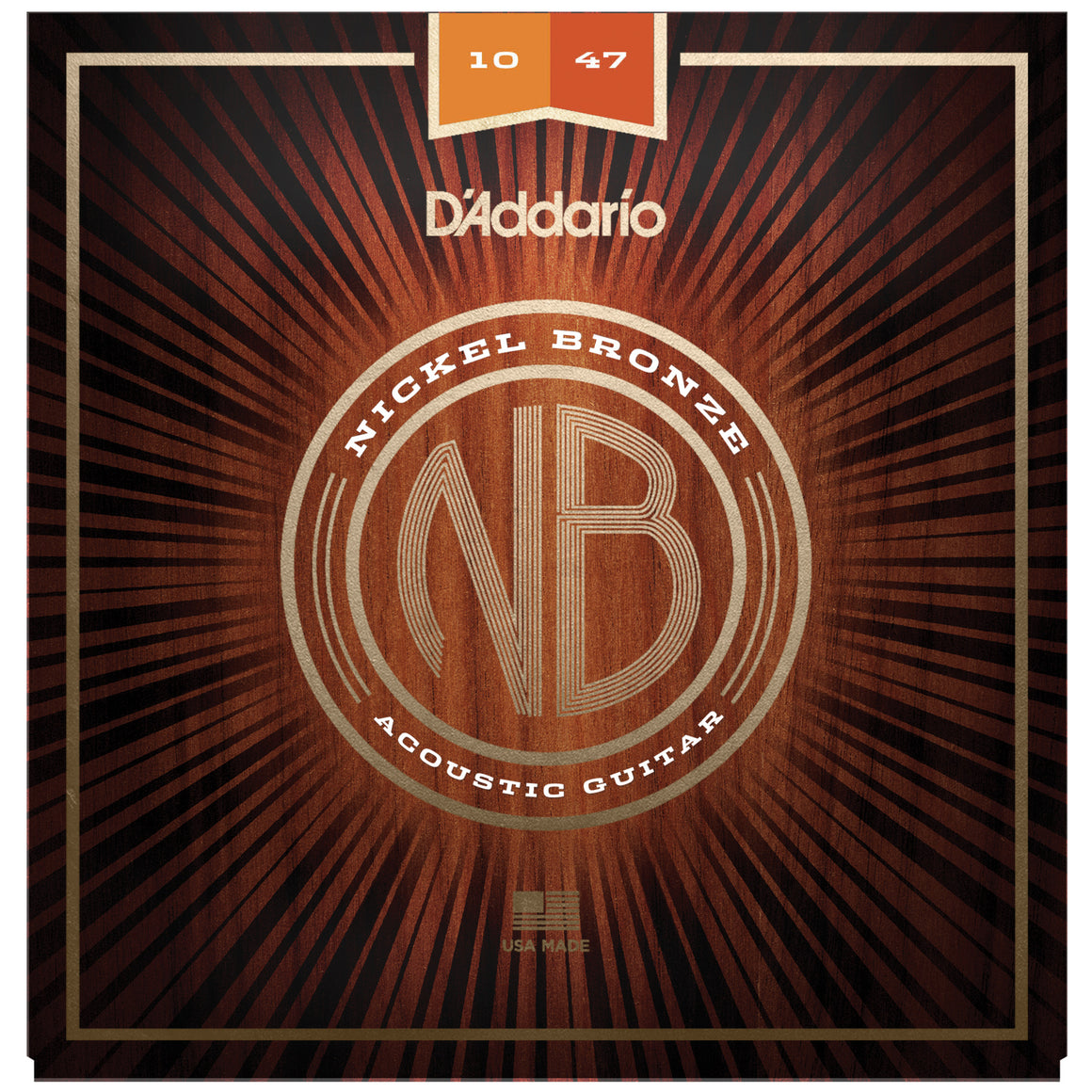 D'Addario NB1047 10-47 Nickel Bronze Light Acoustic Guitar Strings