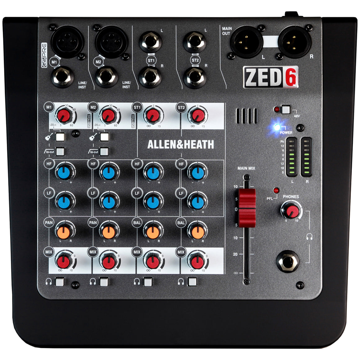 Allen & Heath ZED-6 4-Channel Compact Mixer