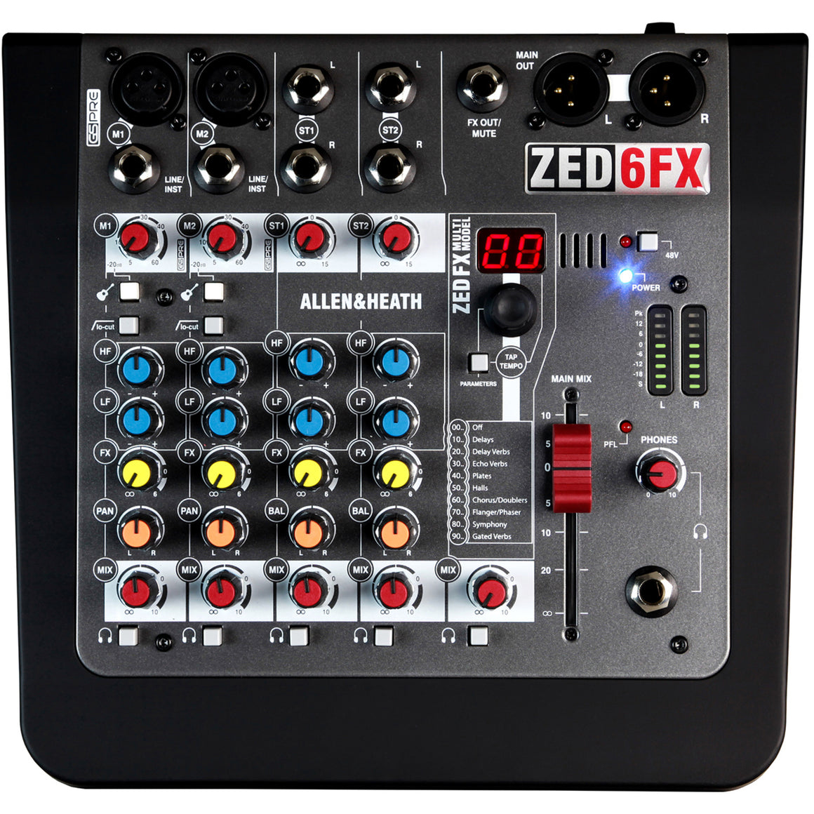 Allen & Heath ZED-6fx 4-Channle Mixer with Effects