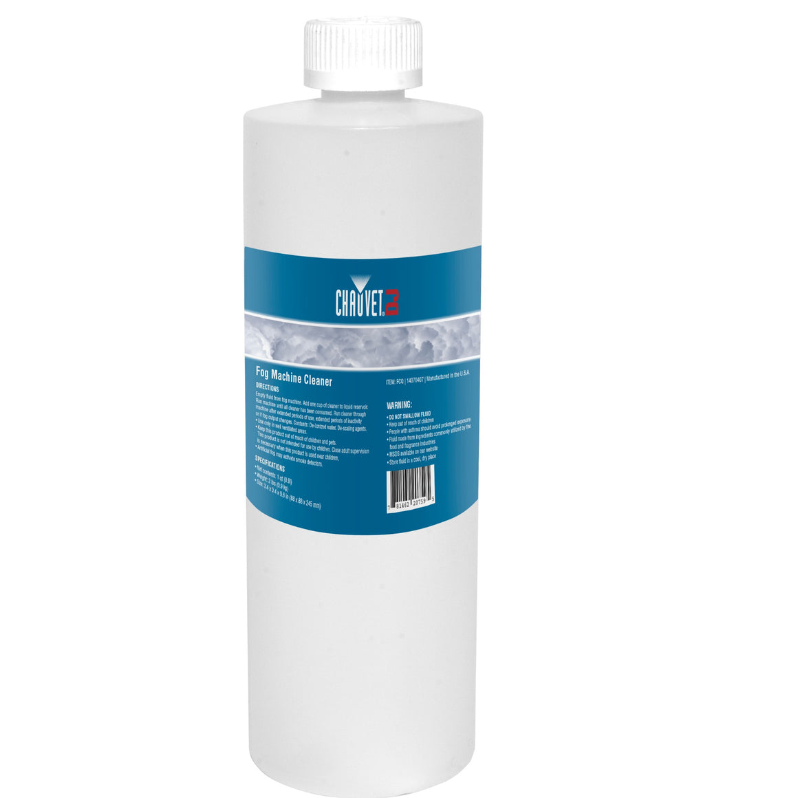 Chauvet FCQ Fog Machine Cleaner Fluid - 1 Quart