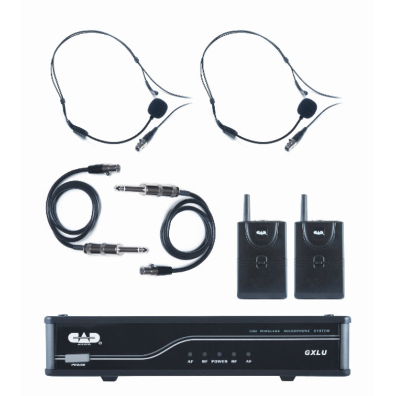 CAD GXLUBBL UHF Dual Beltpack Wireless System