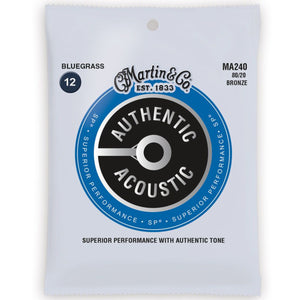 Martin MA240 80/20 Bronze 12-56 Bluegrass Acoustic Guitar Strings