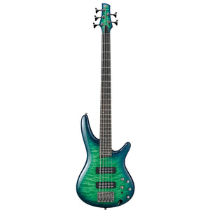 Ibanez SR405EQM 5-String Quilted Maple Electric Bass - Surreal Blue Burst Gloss