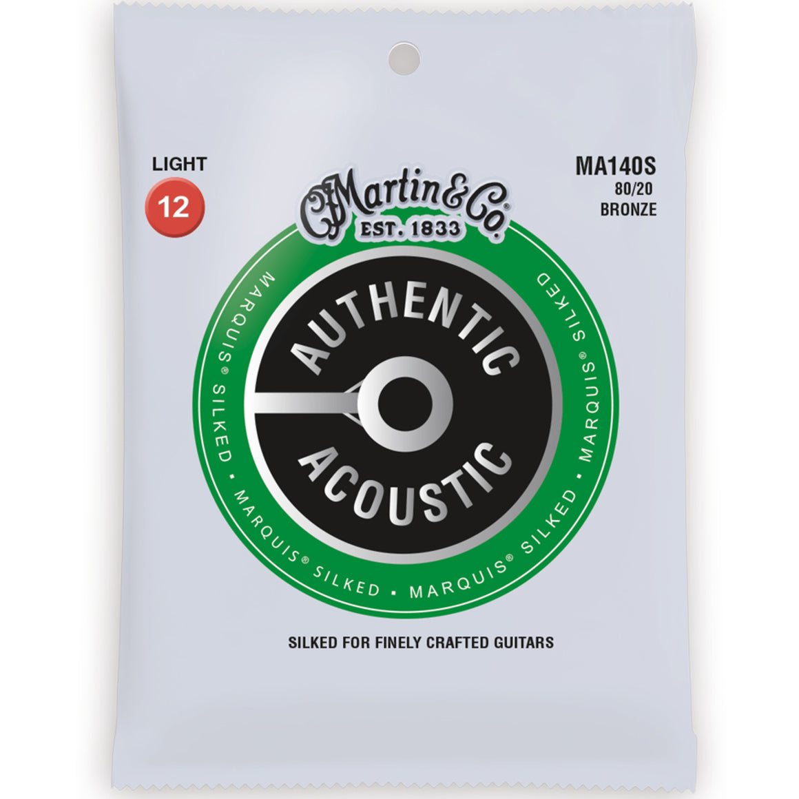 Martin MA140S Marquis Silked 80/20 Bronze 12-54 Light Acousic Guitar Strings