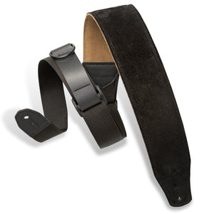 "2.5"" Levy's Right Height Black Padded Strap"