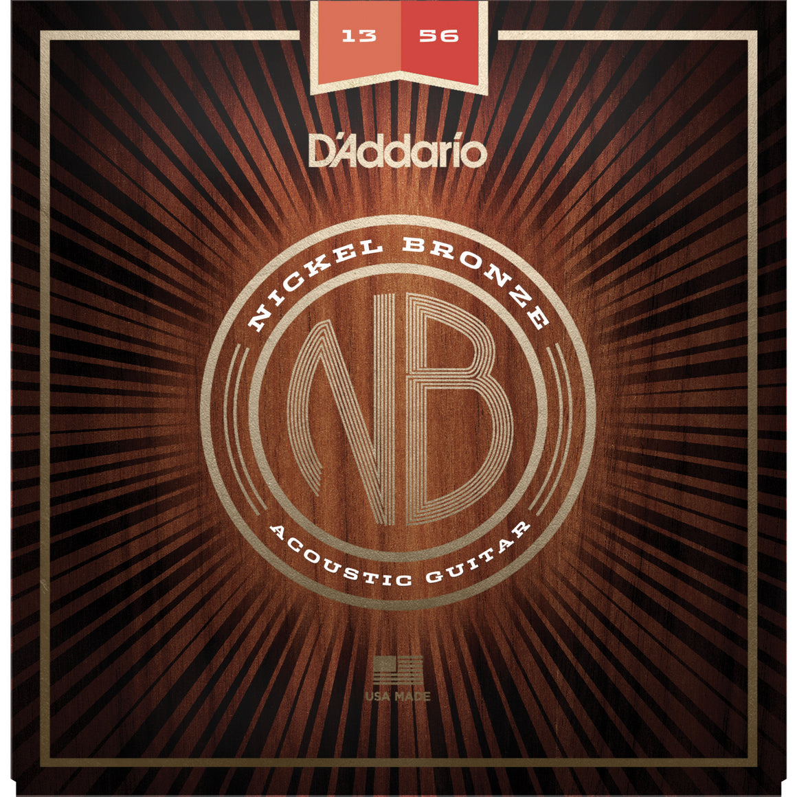 D'Addario NB1356 13-56 Nickel Bronze Medium Acoustic Guitar Strings