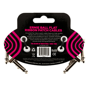 "Ernie Ball 3"" Flat Ribbon Patch Cable 3-Pack"