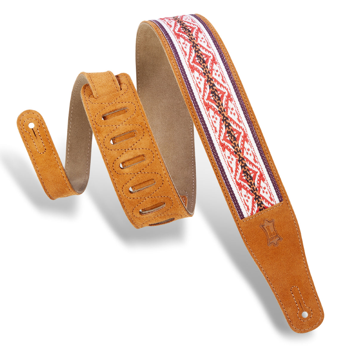 "2.5"" Levy's Honey Embellish Guitar Strap"