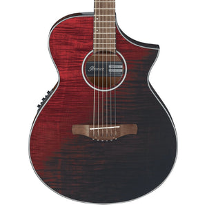 Ibanez AEWC32FM Acoustic Electric Guitar - Red Sunset Fade