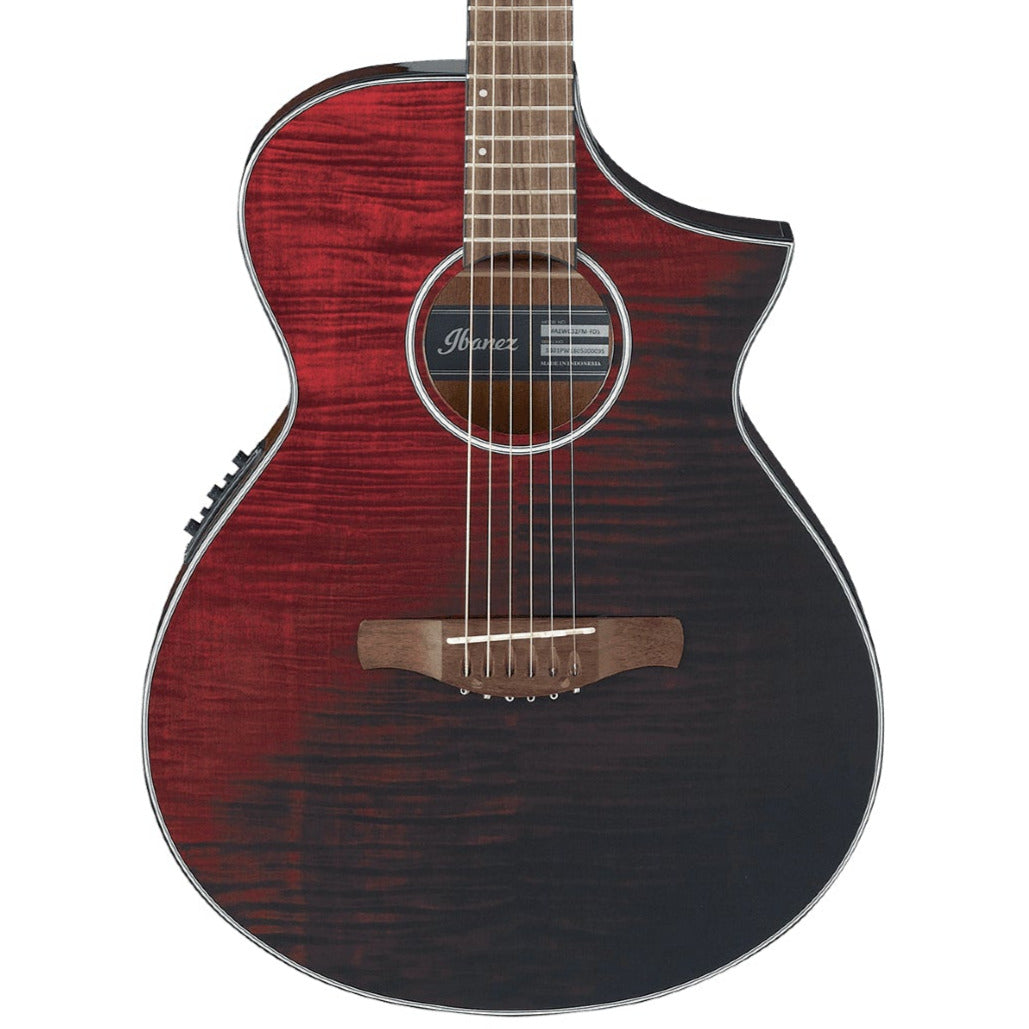 Ibanez AEWC Acoustic Electric Guitar - Red Sunset Fade