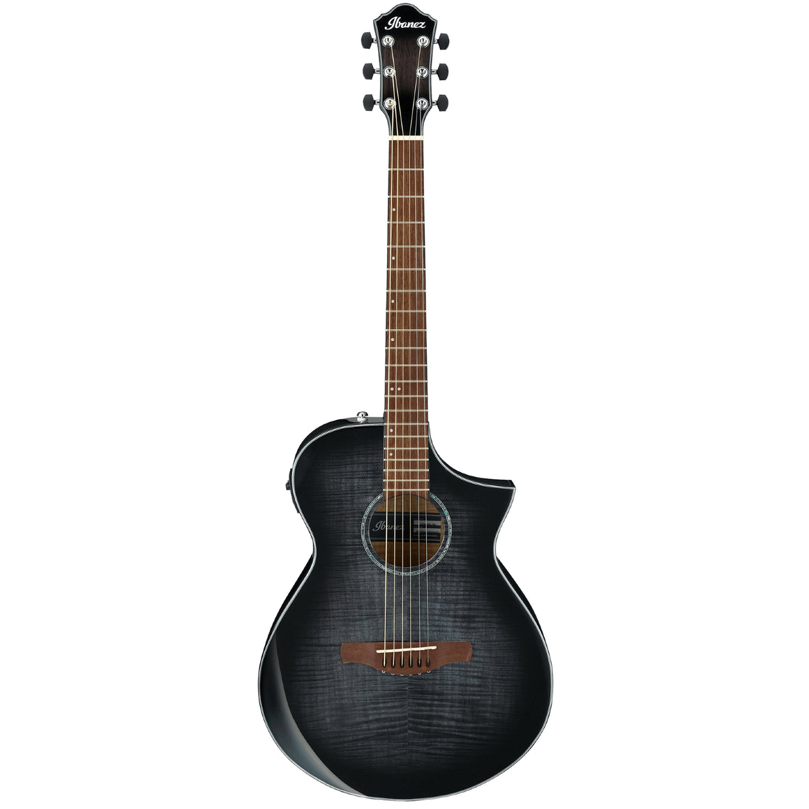 Ibanez AEWC400 Acoustic Electric Guitar - Trans Black Sunburst