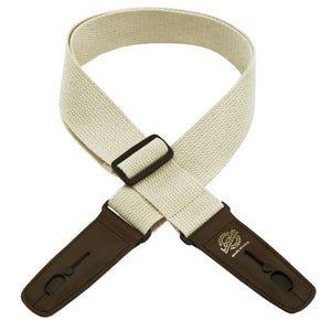 "Lock-It 2"" Natural Cotton Guitar Strap"