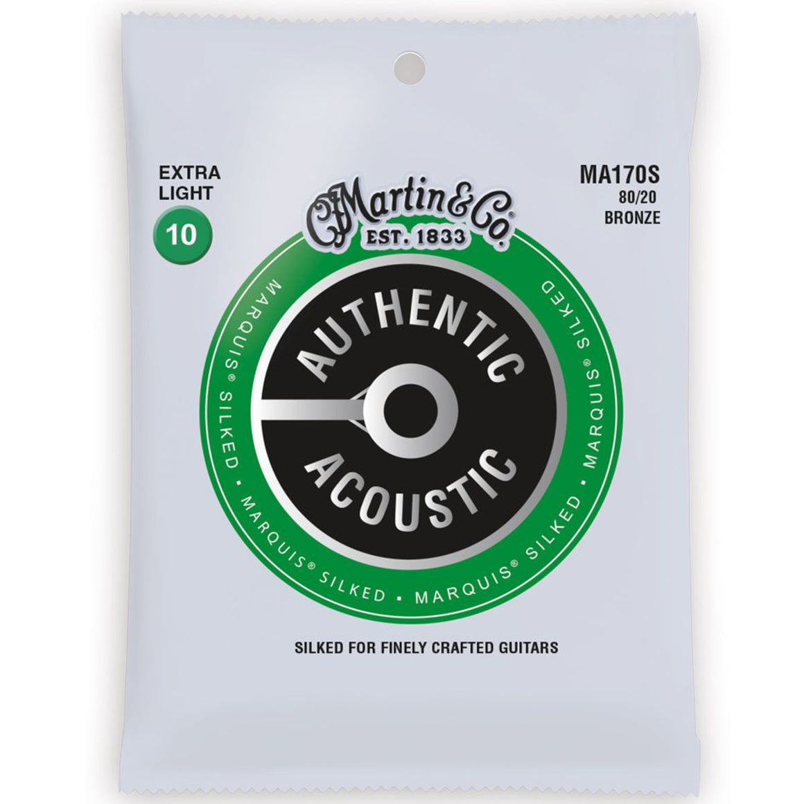 Martin MA170S Marquis Silked 10-47 Extra Light Acoustic Guitar Strings