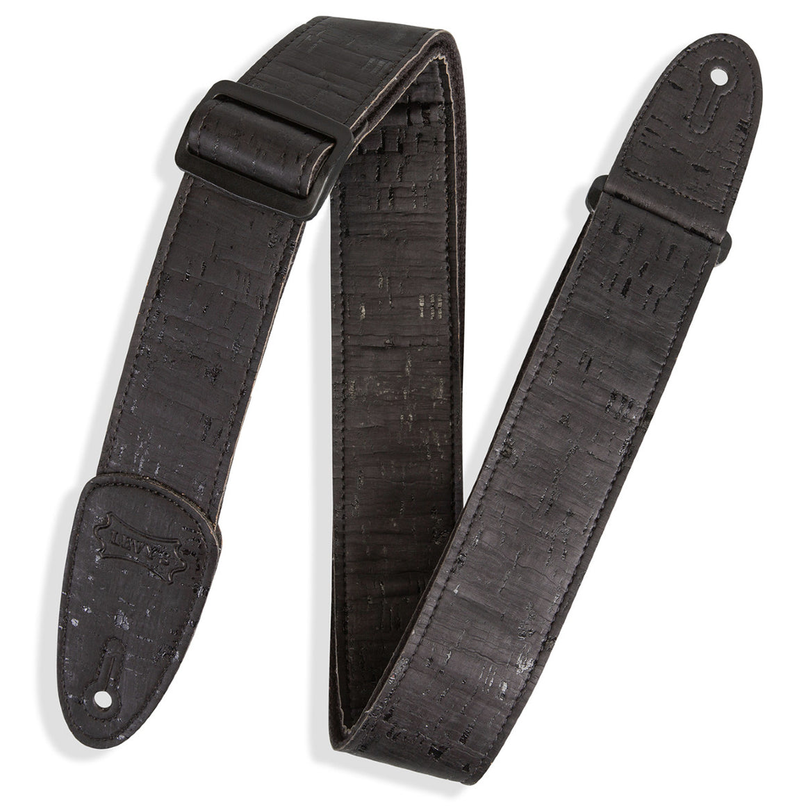 Levy's MX8-BLK Vegan Cork Guitar Strap