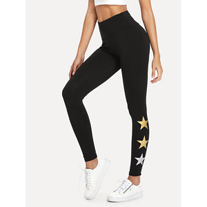 Star Pattern Leggings