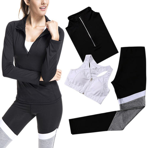 Sports Bra+Pants+Jacket Sets