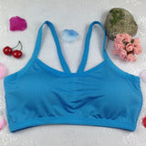 Tank Top Seamless Racer back Padded Sports Bra