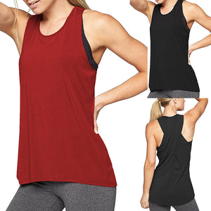 Women's Racerback Sleeveless Yoga Shirt