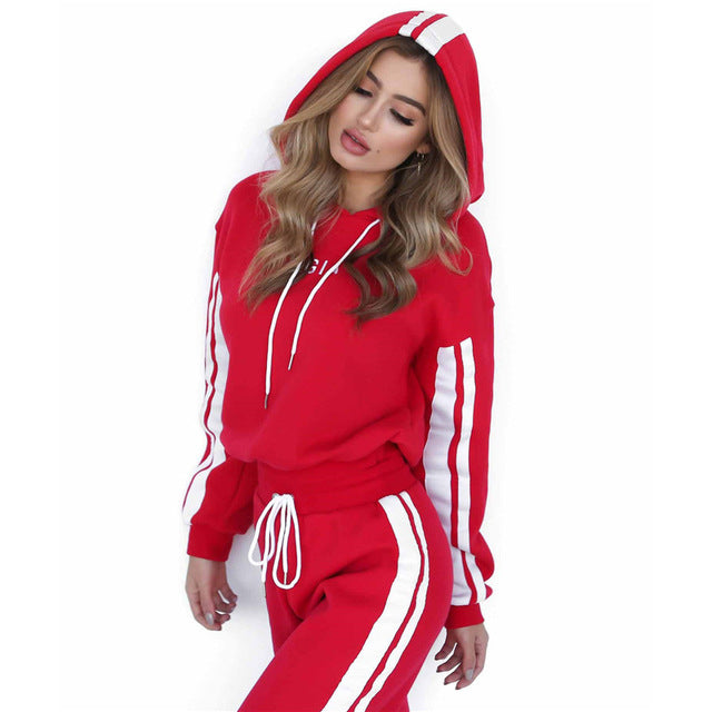 Hoodies+Long Pants Sportswear Set