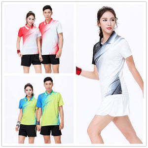 Shirt + Shorts/Skirt Table Tennis And Badminton Wear Sets