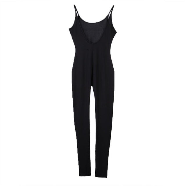 Halter Backless Harness Jumpsuit