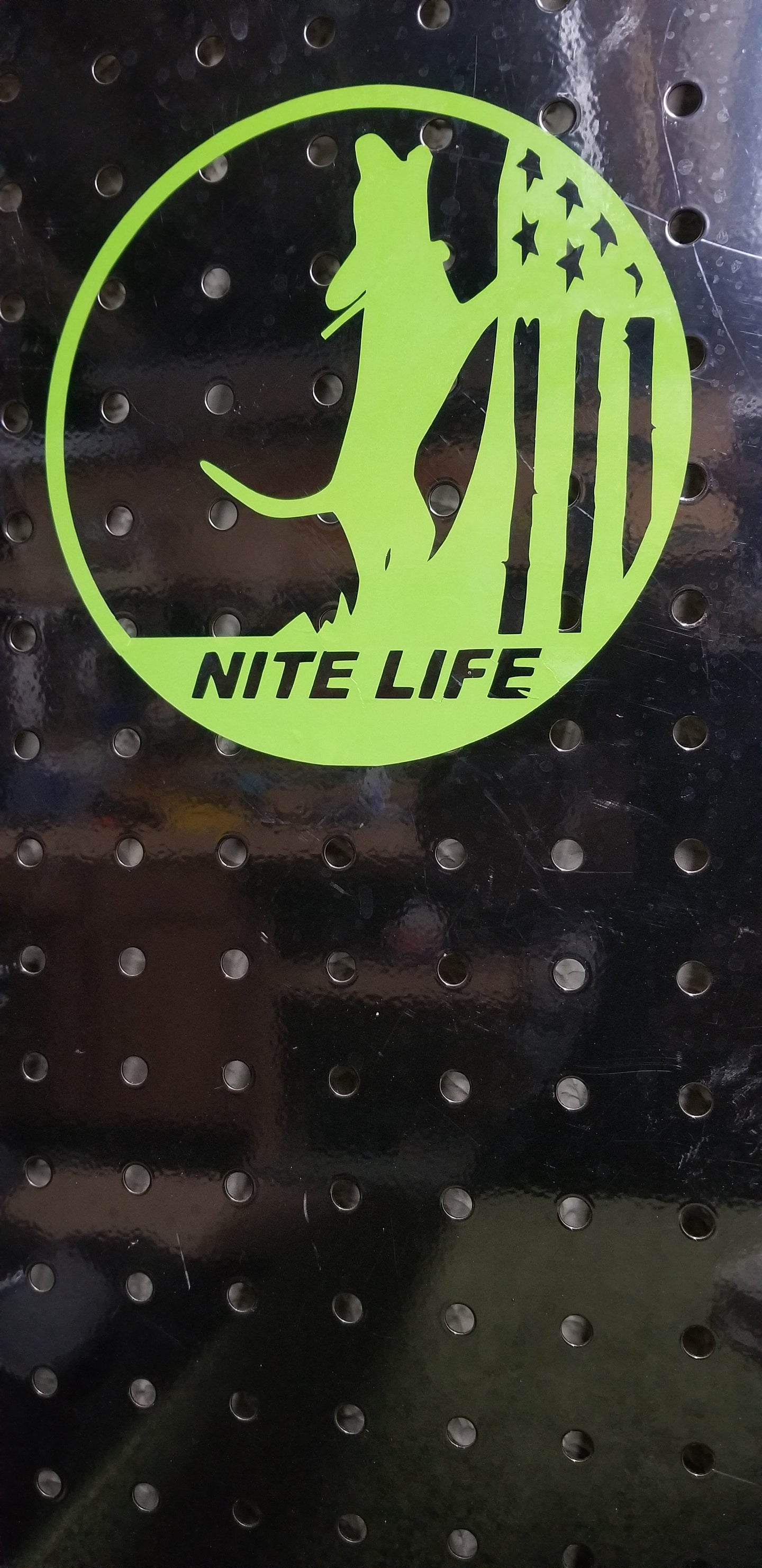 NITE LIFE DECAL GREEN 6 inch