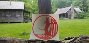 NITE LIFE DECAL ORANGE