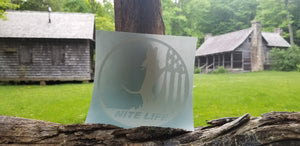 NITE LIFE DECAL WHITE 6 inch