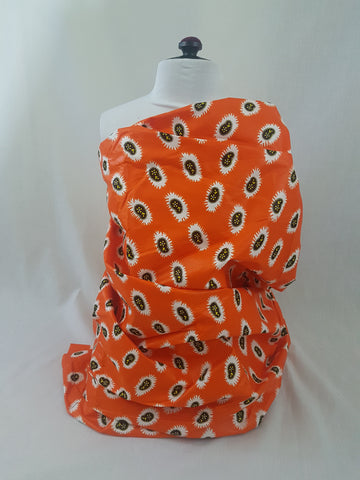 Orange Ankara African Print Fabric - Odo