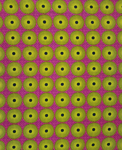Pink and Yellow African Print Ankara Fabric