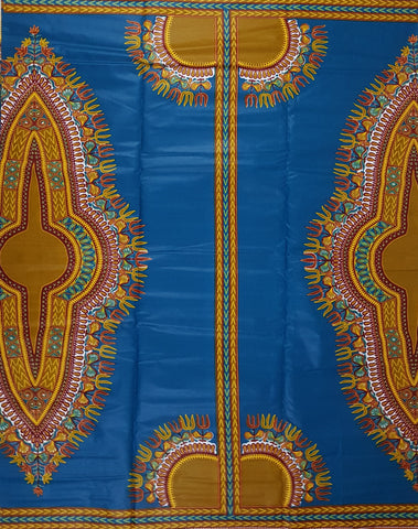 Blue Dashiki Angelina African Print Fabric