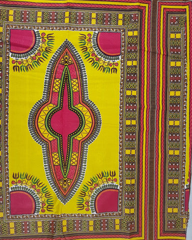 Yellow and Pink Dashiki Angelina African Print Fabric