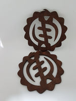 G Y E  N Y A M E - Adinkra Earrings