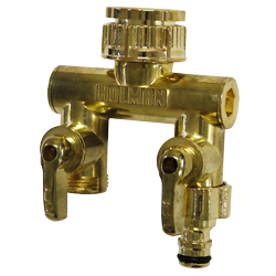 Metal 2 Way Manifold (Suits 15mm & 20mm Taps))