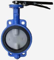 100mm Wafer Body Cast Iron Butterfly Valve with Lever Handle