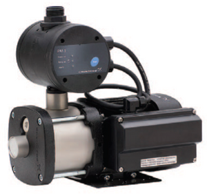 Grundfos CMB-SP Self priming Pressure Pumps fitted with the PM Series Pressure Manager