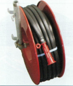 Fire Hose Reel c/w 36 metres of fitted 20mm Black Fire Hose