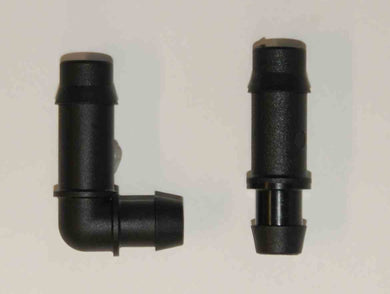 Techline Barbed Elbow Connector to Poly Pipe