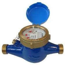 50mm HR Multijet Water Meter Male x Male Threaded