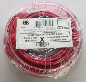 Sheathed Multi-Core Cable .5mm2 x 10 Metre Coil