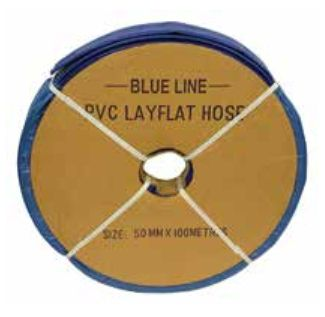 100mm Layflat Medium Duty Blue (WP 65psi) 100m coil